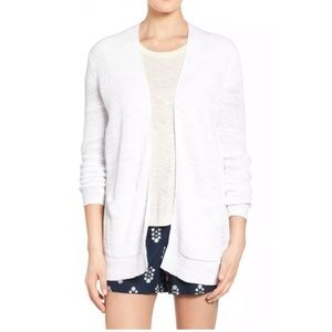 Madewell White Linen Blend Ribbed Cardigan XS